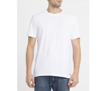 Weißes T-Shirt mit Rundhalsausschnitt Crew