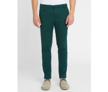 Graue Slim-Chino-Hose in Stretch