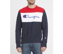 Blaues Sweatshirt Trikolore Logo