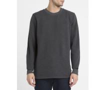 Sweatshirt mit Rundhalsausschnitt Calow in Anthrazit