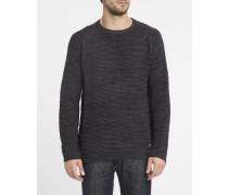 Schwarzer Pullover mit Rundhalsausschnitt Broke