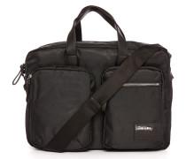 Schwarze Aktentasche aus Nylon mit 2 Taschen Crash