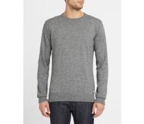 Grau melierter Pullover mit Rundhalsausschnitt Irie Patch Knit