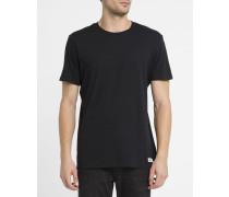 Schwarzes T-Shirt Crew mit Rundhalsausschnitt