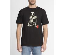 Schwarzes T-Shirt mit Florist Sadistic-Aufdruck