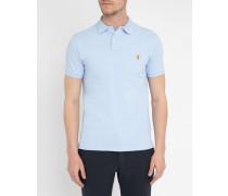 Slimfit-Poloshirt Pebble Blue