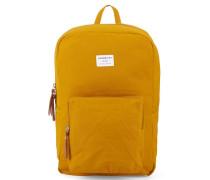 Gelber Rucksack mit Reißverschluss Kim