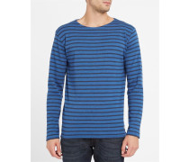 Klassisches Matrosen-T-Shirt 2297, blau meliert
