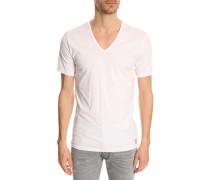 T-Shirt weiß V-Neck (2er Pack)