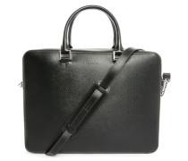 Schwarze Aktentasche aus Leder mit abnehmbarem Tragegurt Aymeric