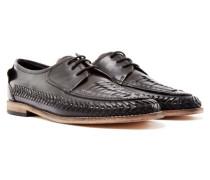 Anfa Calk Woven Lace Up Shoe Black