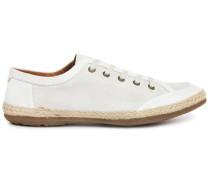 Niedrige Sneakers St Barth aus Wildleder und Baumwolle in Weiß