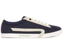 Marineblaue Sneaker Pr Bikkren mit weißer Sohle