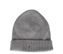 Mütze aus Baumwoll-Kaschmir in Grau