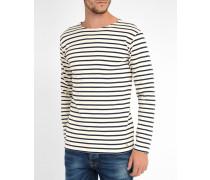 Gestreiftes T-Shirt 2297 Ecru Marineblau