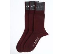 3er-Pack bordeauxrote Socken AIRPORT