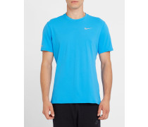 Blaues T-Shirt Running Dri-Fit Contour