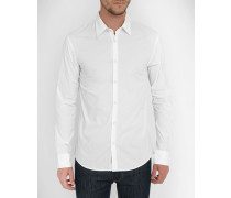 Stretch-Hemd aus weißem Popeline