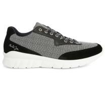 Schwarze Sneaker aus Stoff und Leder Repper