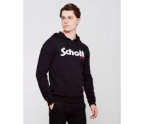 Schott Logo Pull Over Hoodie Black