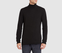Pullover mit Stehkragen Vegan Irie Patch in Schwarz