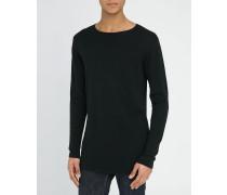 Langer schwarzer Pullover Ted