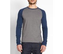 Marineblaues Langarm-T-Shirt mit Raglanärmeln Louis