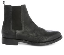 Schwarze Chelsea Boot Edition 14 aus Burnished Leather