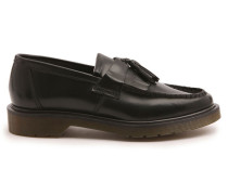 Mokassins aus schwarzem Leder