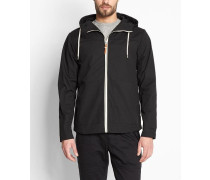 7351 Jacket Short With Hood AndContrast Trims