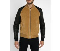 Jacke aus kamelbraunem Leder