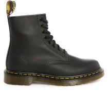 Schwarze Boots 1460 Greasy Leather mit Kontrastnähten