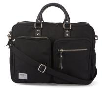 Schwarze Aktentasche mit Reißverschlusstasche Arne