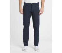 Marineblaue Jeans Tapered Fit Stretch Klondike Huron