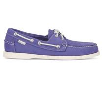 Bootsschuhe aus blau-violettem Nubukleder Dockside
