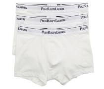 3er Pack Boxershorts weiß aus Baumwolle Stretch