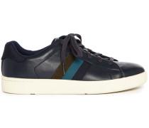 Marineblaue Sneaker Lawn aus Leder