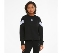 Iconic MCS Cropped Sweatshirt mit Rundhalsausschnitt
