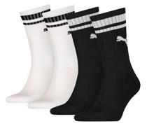 Heritage gestreifte Crew-Socken 4er Pack