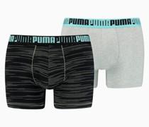 Space-Dye Stripe Short Boxershorts 2er Pack
