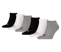 Unisex Sneaker-Socken 6er Pack Schuhe