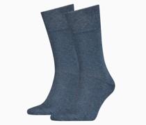 Klassische Pikee Socken 2er Pack