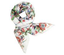 Halstuch mit Logo und Blumen aus bedruckter Seide