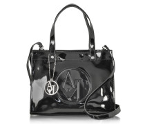 Signature Faux Patent Leather Tote