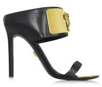 Sandale aus schwarzem Leder