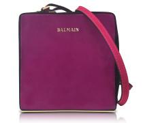 Pablito Purple Velvet Shoulder Bag