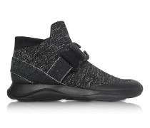 High top Black & Silver Lurex Sneaker