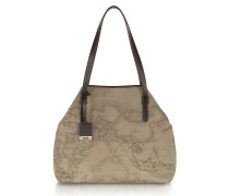 Geo Printed Large 'New Basic' Shoulder Bag
