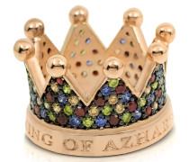Re Ring aus Silber mit Zirkon und Krone