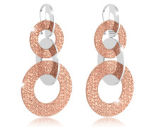 R-Zero Rose Gold Over Bronze Dangle Earrings